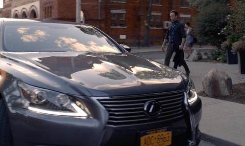 Patrick J. Adams with Lexus LS Hybrid Sedan in Suits