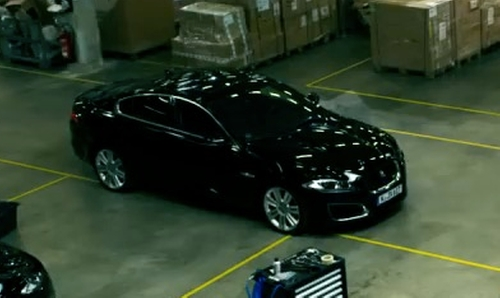 Nicholas Hoult with Jaguar 2012 XF R Sedan in Collide