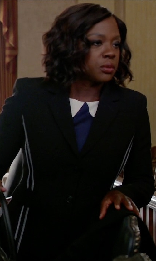 Viola Davis with Altuzarra Fenice Two-Button Blazer in How To Get Away With Murder