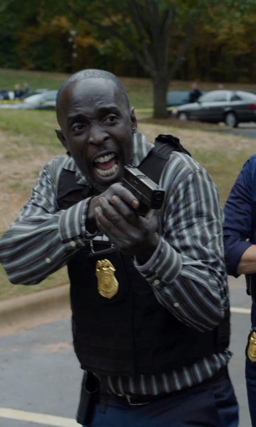 Michael Kenneth Williams with Hugo Boss Connio Leather Belt in Captive