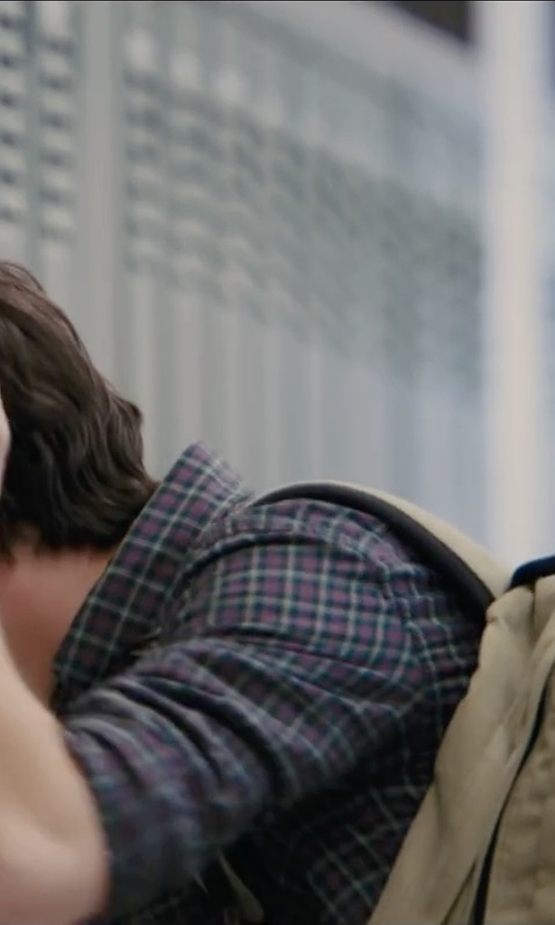 Nat Wolff with Eastpak Wyoming Beige Backpack with Leather Trim in Paper Towns