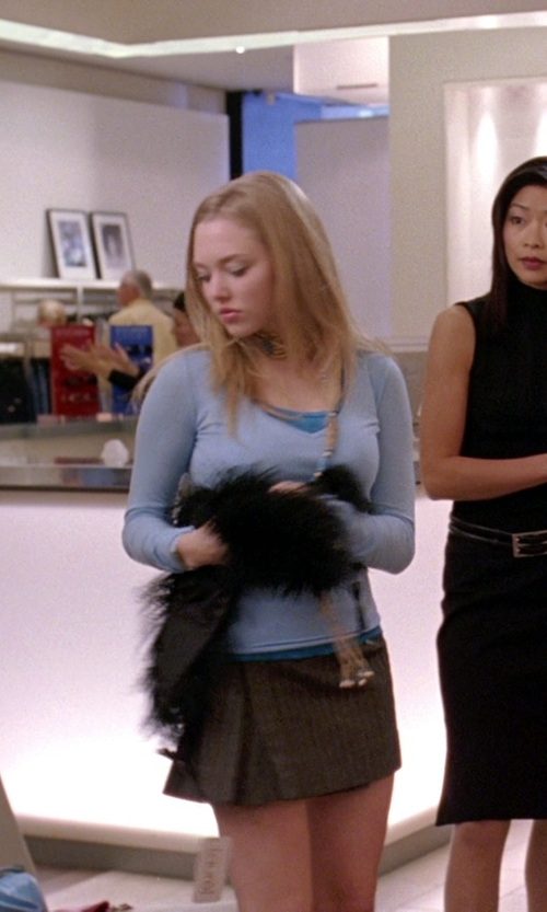 Amanda Seyfried with Ralph Lauren Cotton V-Neck Sweater in Mean Girls