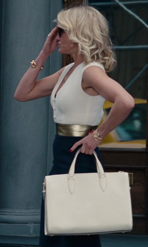 Cameron Diaz with Valextra Heritage Top Handle Bag in The Other Woman