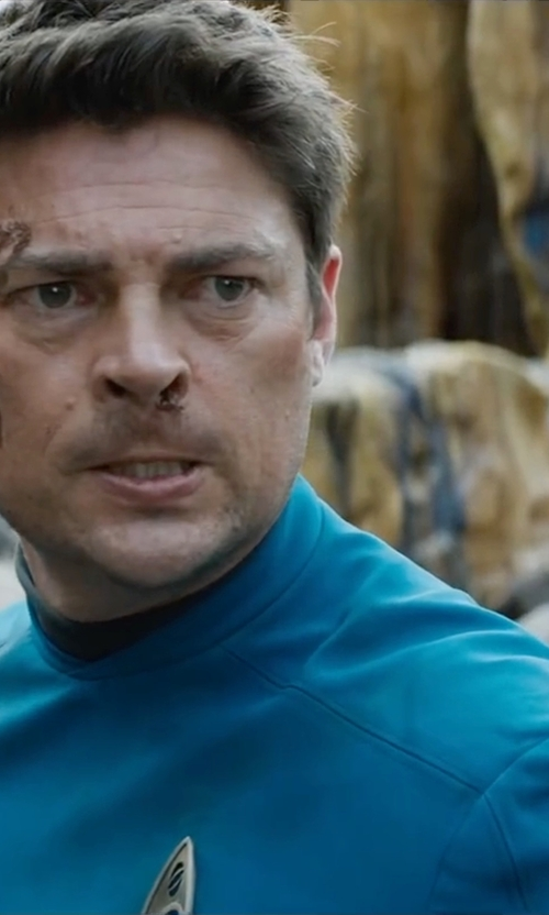 Karl Urban with Sanja Milkovic Hays (Costume Designer) Custom Made Bones Tunic Uniform in Star Trek Beyond