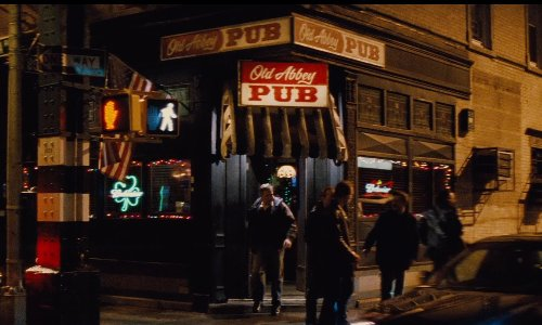 Unknown Actor with Mike's Pub (Depicted as Old Abbey Pub) New York City, New York in Run All Night