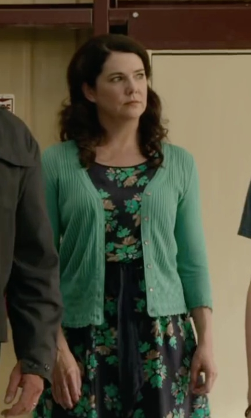 Lauren Graham with Sophie Floral Chiffon Skater Dress in Max