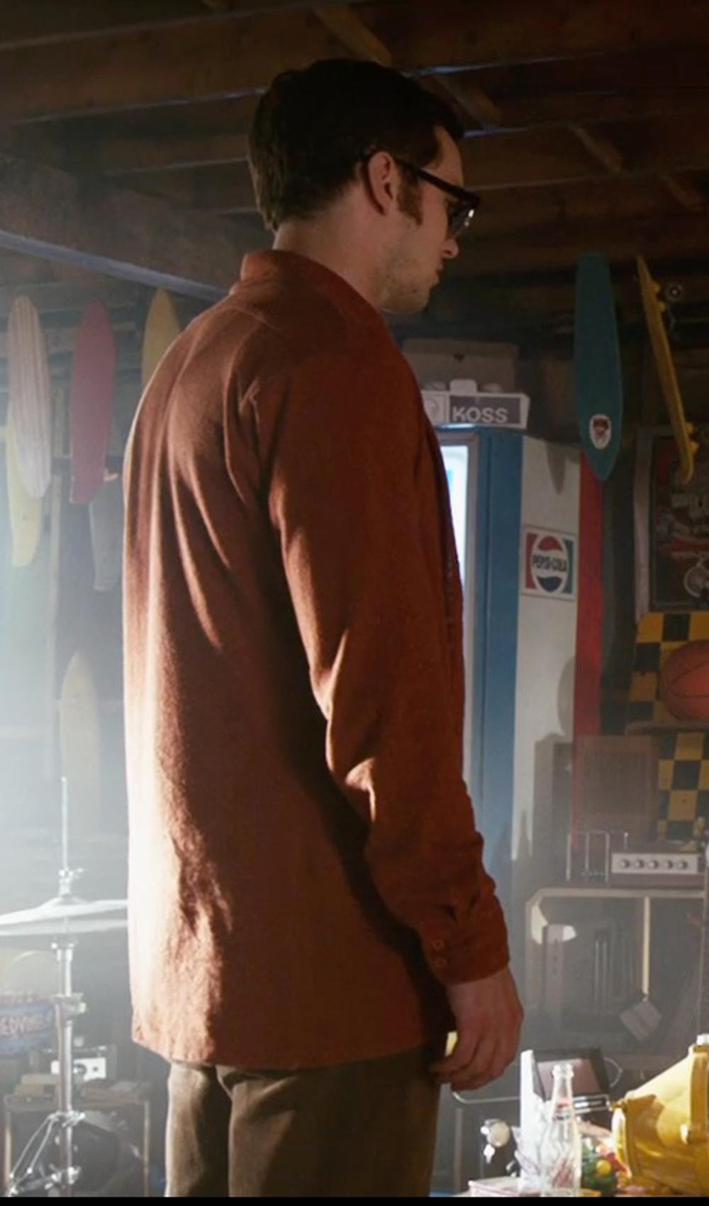 Nicholas Hoult with Mountain Khakis Cottonwood Pants - Corduroy in X-Men: Days of Future Past