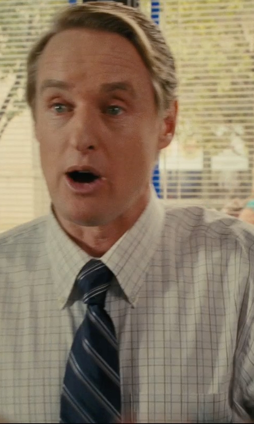 Owen Wilson with American Apparel Plaid Button-Down Shirt in Hall Pass