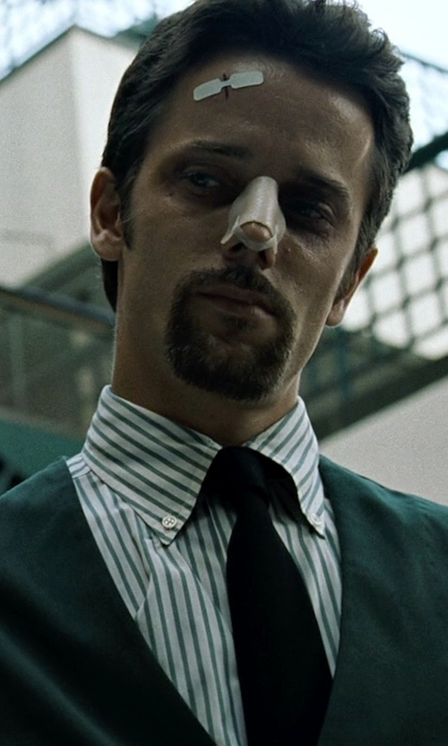 Chad Randau with Ted Baker London 'Jaguar' Wool Vest in Fight Club