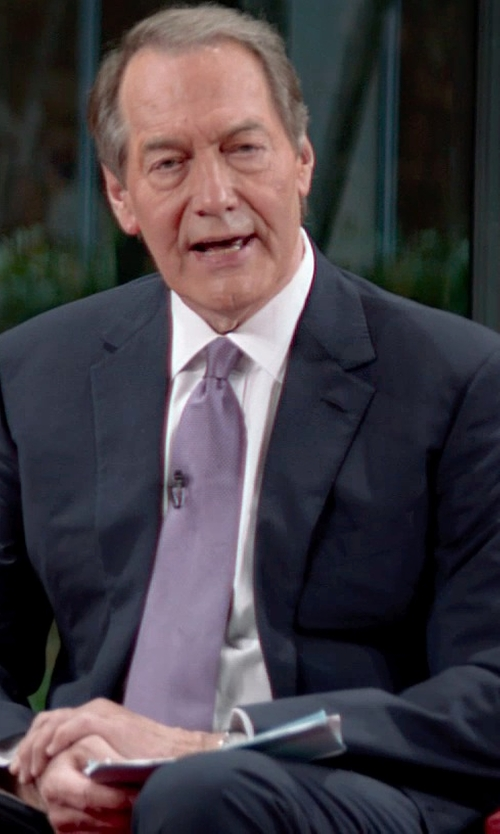 Charlie Rose with Theory Slyvain Solid Dress Shirt in Top Five