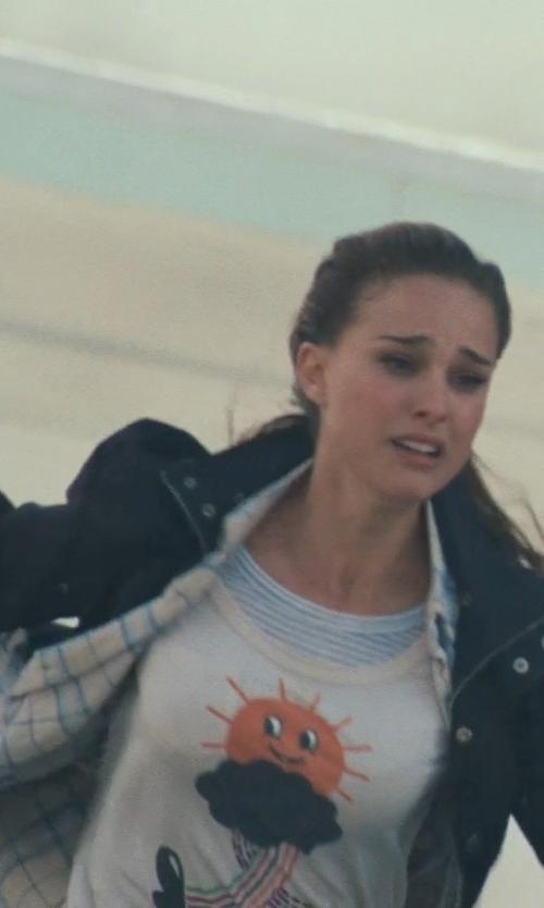 Natalie Portman with Cole Haan Spread Collar Field Jacket in Thor
