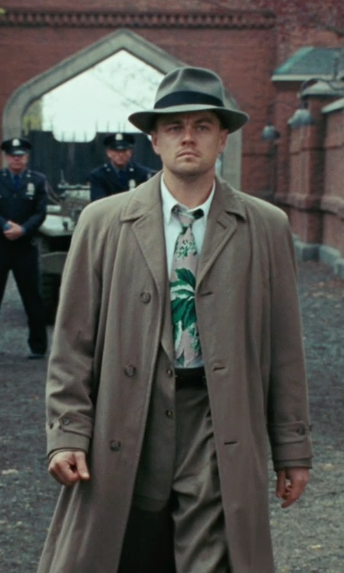 Leonardo DiCaprio with Sandy Powell (Costume Designer) Custom Made Trench Coat (Leonardo DiCaprio) in Shutter Island