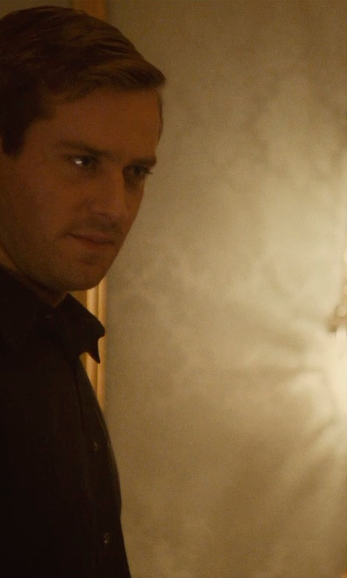 Armie Hammer with AV Mazzega Venetian Miami 2 Arm Wall Sconce in The Man from U.N.C.L.E.