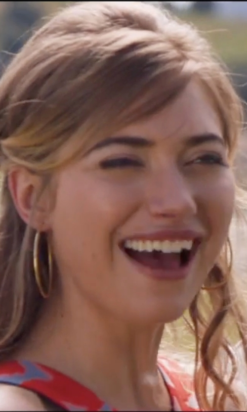 Imogen Poots with Argento Vivo Hoop Earrings in Popstar: Never Stop Never Stopping