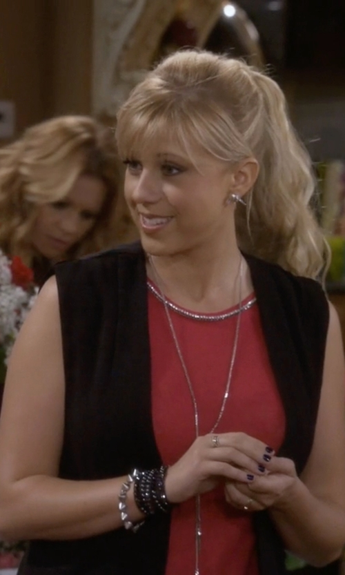 Jodie Sweetin with Calvin Klein Embellished Sleeveless Top in Fuller House