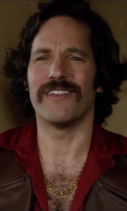 Paul Rudd with Leather Next 70s Style Jacket in Anchorman 2: The Legend Continues