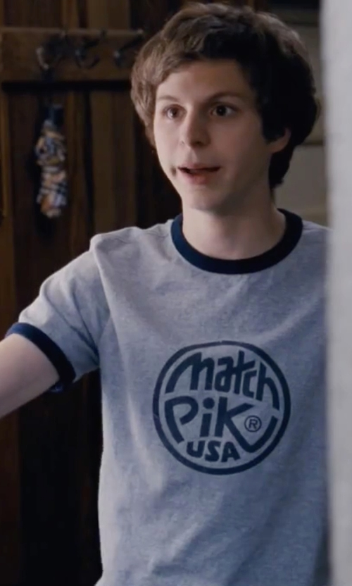 Michael Cera with Dunlop Match Pik USA Ringer T-Shirt in Scott Pilgrim Vs. The World