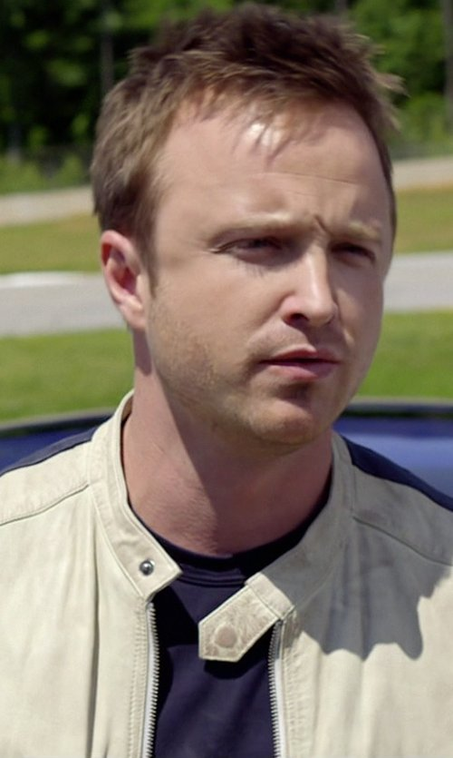 Aaron Paul with Dsquared2 Crew Neck T-Shirt in Need for Speed