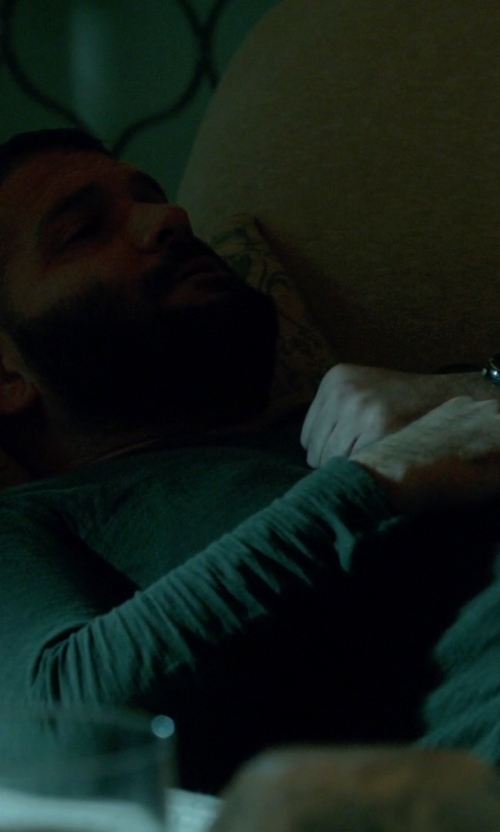 Guillermo Díaz with Victorinox Swiss Army 'Alliance' Round Leather Strap Watch in Scandal