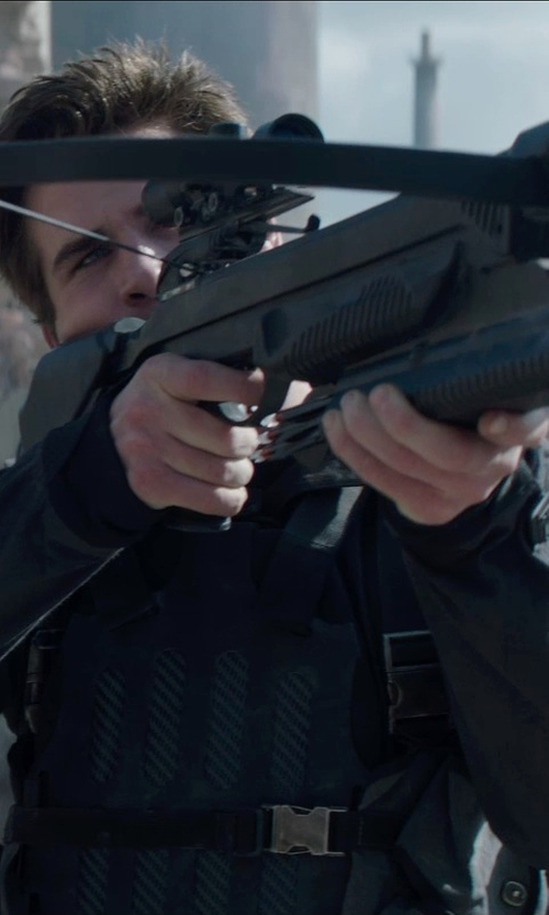 Liam Hemsworth with Barnett  Ghost 410 CRT Crossbow in The Hunger Games: Mockingjay Part 1