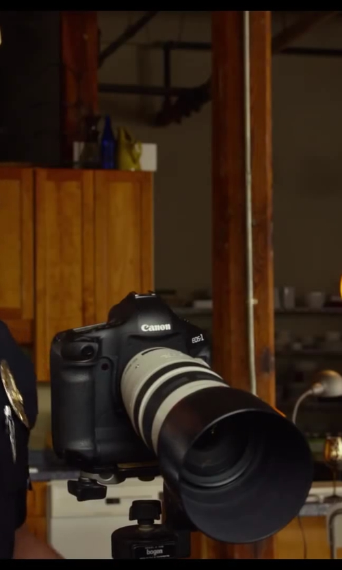 Jake Johnson with Canon EOS 1D Mark III 10.1MP Digital SLR Camera in Let's Be Cops