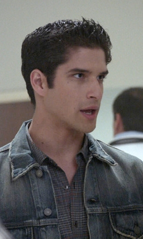 Tyler Posey with Denim & Supply Ralph Lauren Denim Jacket in Teen Wolf
