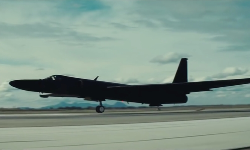 Austin Stowell with Lockheed Martin U-2 Aircraft in Bridge of Spies