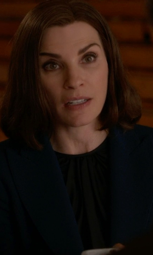 Julianna Margulies with Boss Juicy Virgin Wool Blazer in The Good Wife