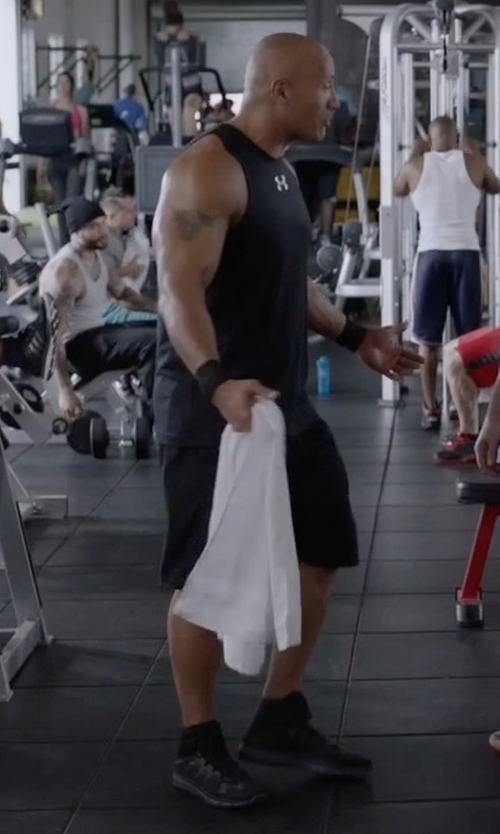 Dwayne Johnson with Under Armour Highlight Delta Running Shoes in Ballers