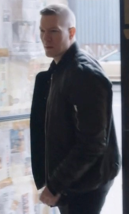 Joseph Sikora with Rick Owens Raglan Bomber Jacket in Power