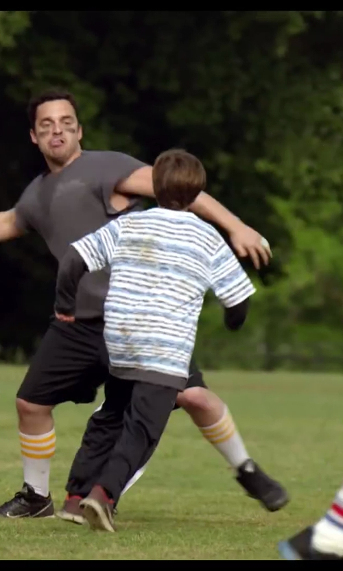 Unknown Actor with Peek Alphie Stripe Henley T-Shirt in Let's Be Cops