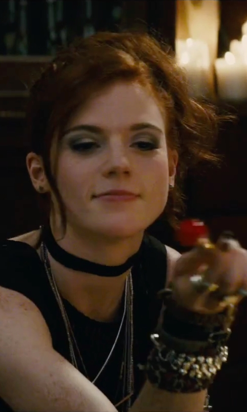 Rose Leslie with Child of Wild Electric Daze Navajo Choker Necklace in The Last Witch Hunter