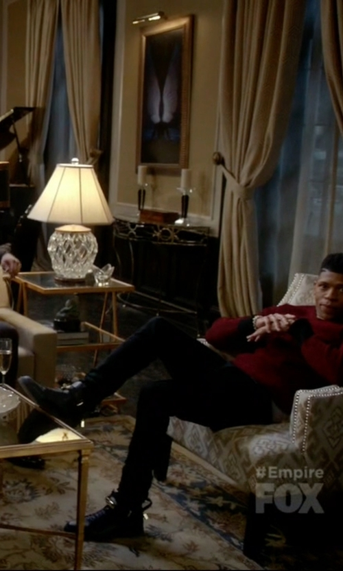 Bryshere Y. Gray with Buscemi High-Top Leather Sneakers in Empire