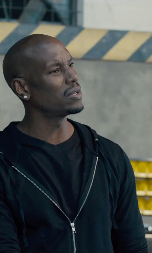 Tyrese Gibson with T by Alexander Wang	 Cotton Zip Hoodie in Furious 7