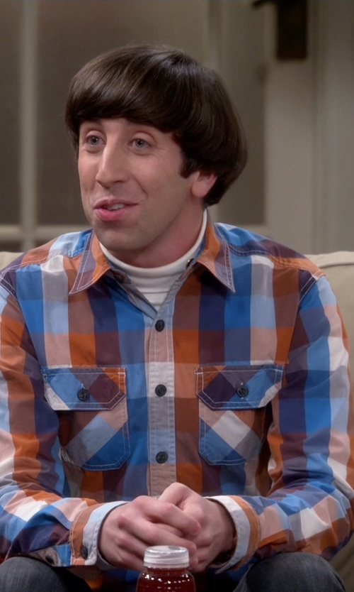 Simon Helberg with Timberland Checked Long Sleeve Shirt in The Big Bang Theory