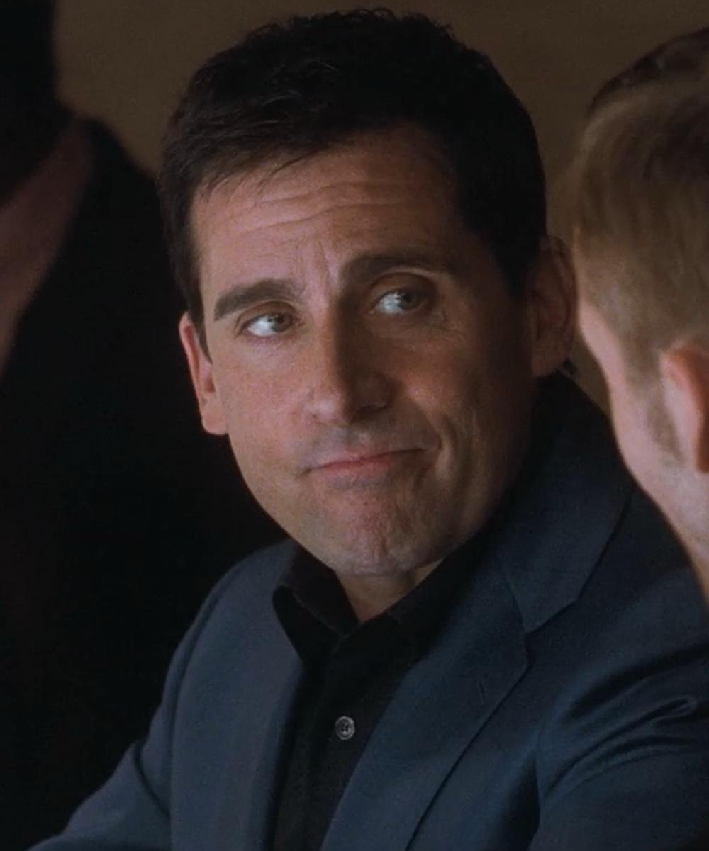 Steve Carell with Canali Neat Blazer in Crazy, Stupid, Love.