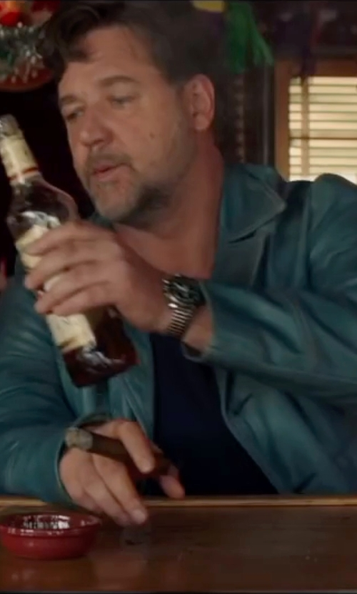 Russell Crowe with AX Armani Exchange Hampton LP Watch in The Nice Guys