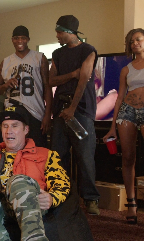 Unknown Actor with Urban Outfitters Feathers Angled Muscle Tank Top in Get Hard