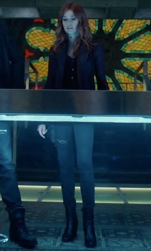 Katherine McNamara with Raye X Tularosa Avalon Booties in Shadowhunters