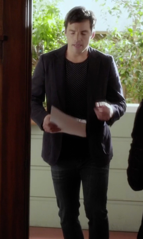 Ian Harding with Armani Jeans Denim Pants in Pretty Little Liars