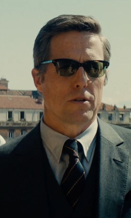 Hugh Grant with Dolce & Gabbana Classic Three-Piece Suit in The Man from U.N.C.L.E.