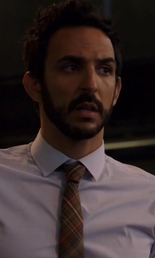 Amir Arison with The Tie Bar Soft Plaid Tie in The Blacklist