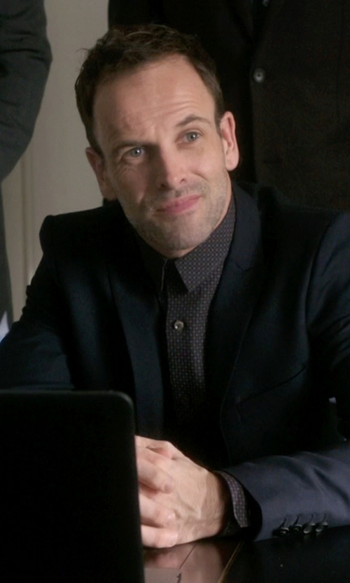Jonny Lee Miller with Theory Zack PS Shirt in Elementary