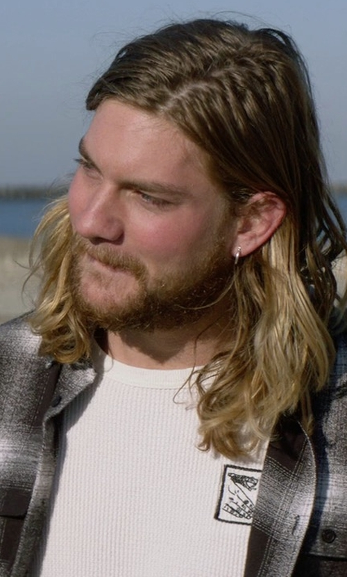 Jake Weary with Doom Sayers Snake Shake Thermal Longsleeve T-Shirt in Animal Kingdom