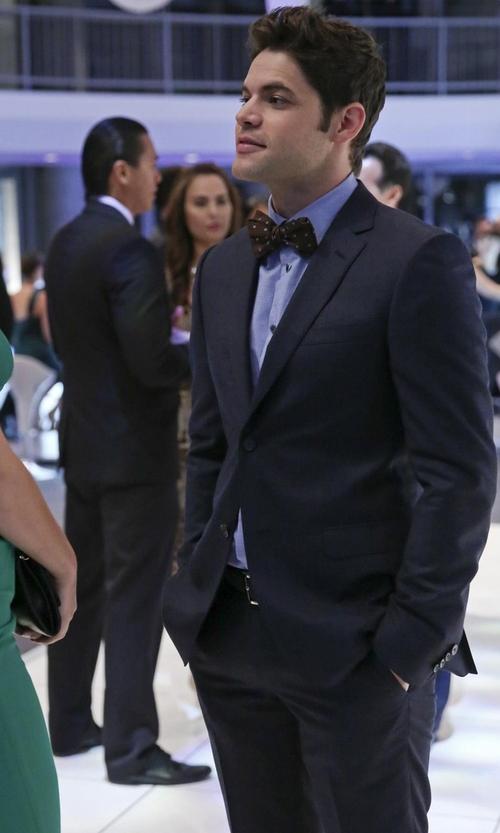 Jeremy Jordan with Ted Baker London 'Jones' Trim Fit Wool Suit in Supergirl