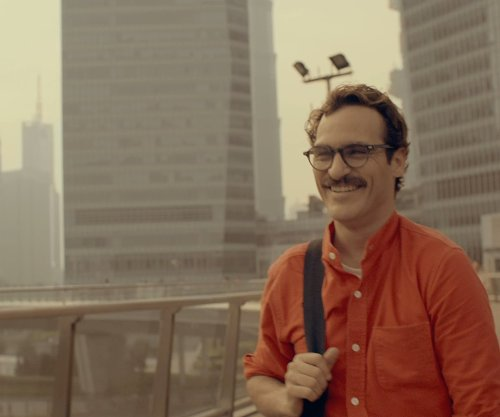 Joaquin Phoenix with Shanghai International Finance Center Mall Shanghai, China in Her