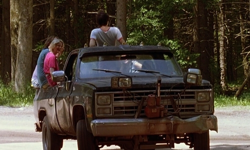 Janeane Garofalo with Chevrolet 1985 C/K 20 Pick Up Truck in Wet Hot American Summer