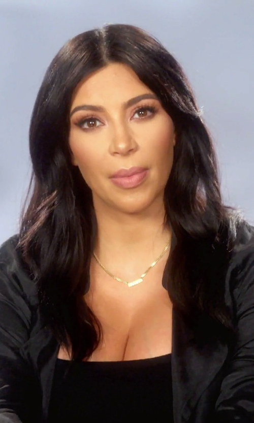 Kim Kardashian West with Faith Connexion Rib Tank Top in Keeping Up With The Kardashians