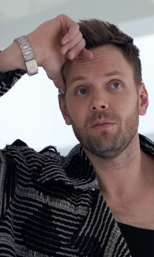 Joel McHale with Hugo Boss Round Chronograph Bracelet Watch in Adult Beginners