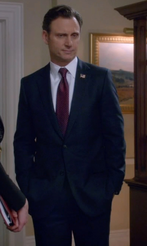 Tony Goldwyn with Brooks Brothers Fitzgerald Fit BrooksCool Suit in Scandal